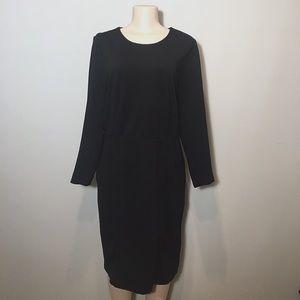 J. Crew Black Knee-Length Dress